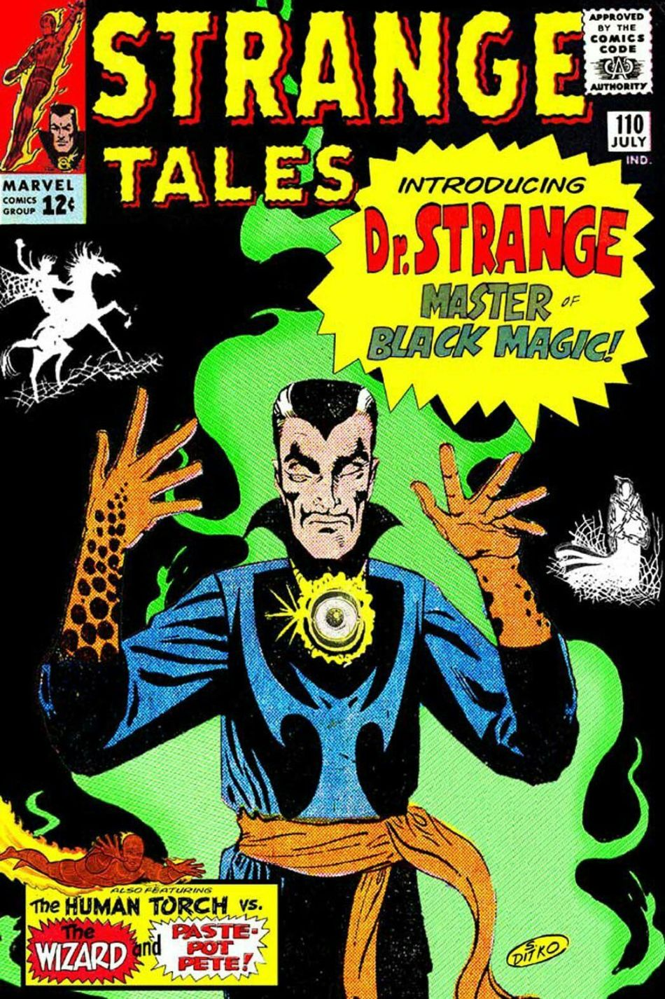 Dr. Strange's First Appearance: Strange Tales Issue #110