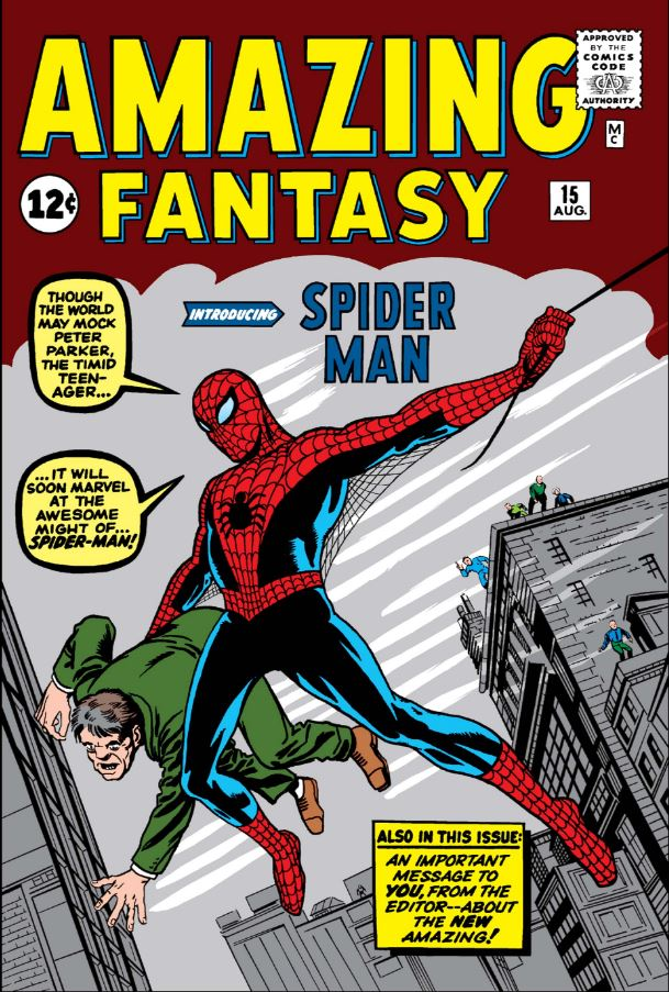 Spider-Man's First Appearance Amazing Fantasy Issue #15